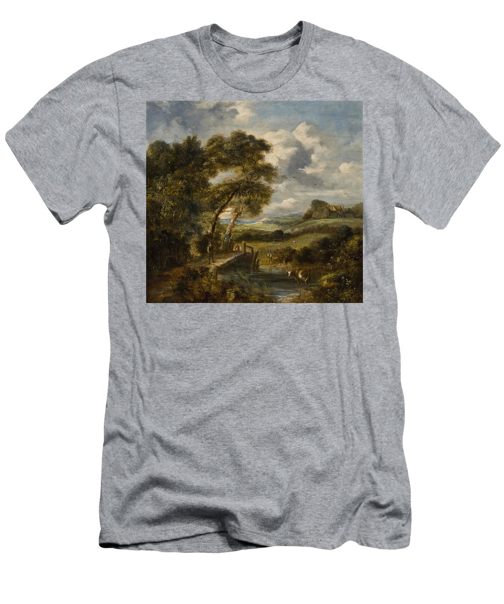 England 19th Men's T-Shirt (Athletic Fit) featuring the painting England by MotionAge Designs