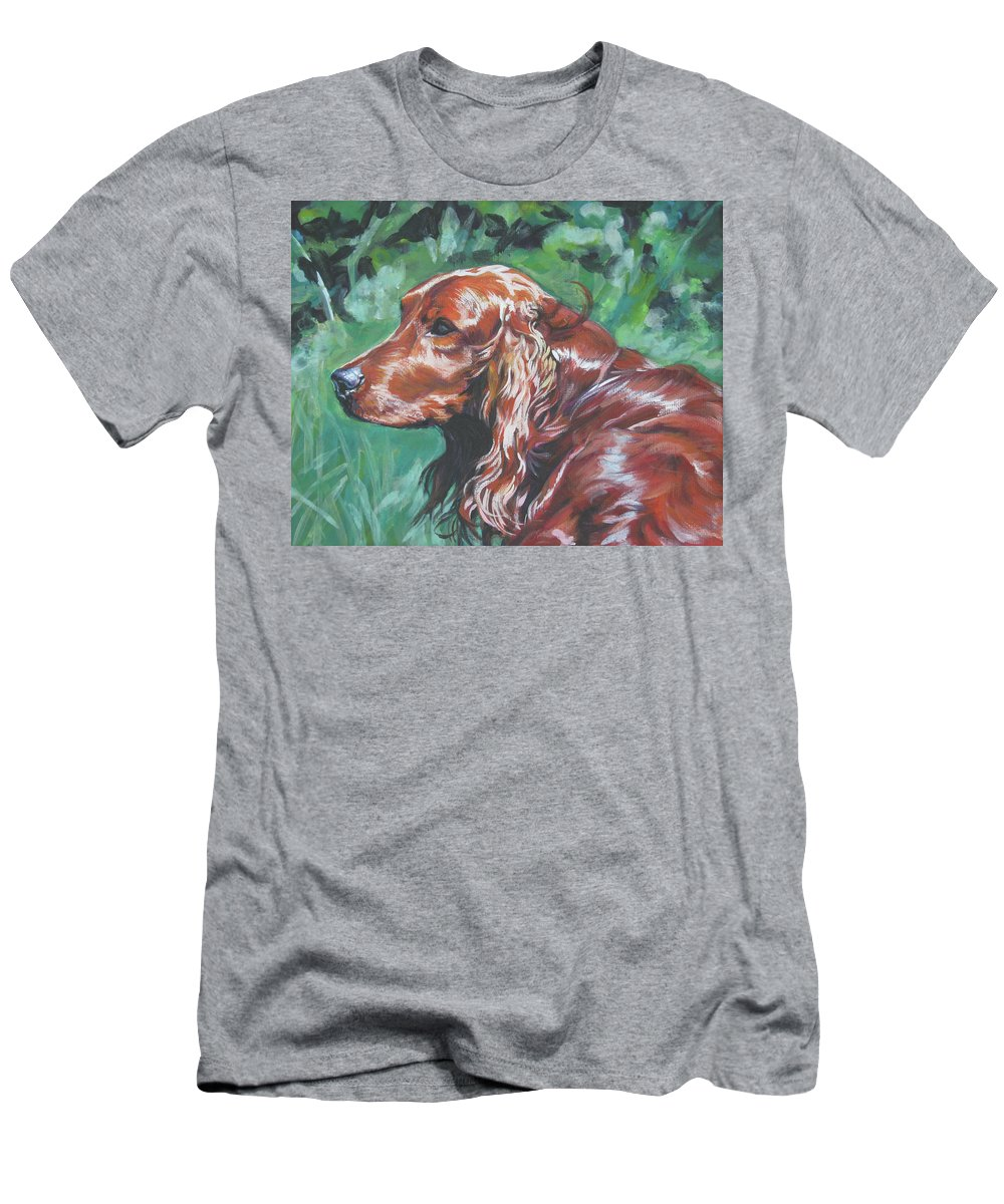 Irish Setter Men's T-Shirt (Athletic Fit) featuring the painting Irish Setter by Lee Ann Shepard