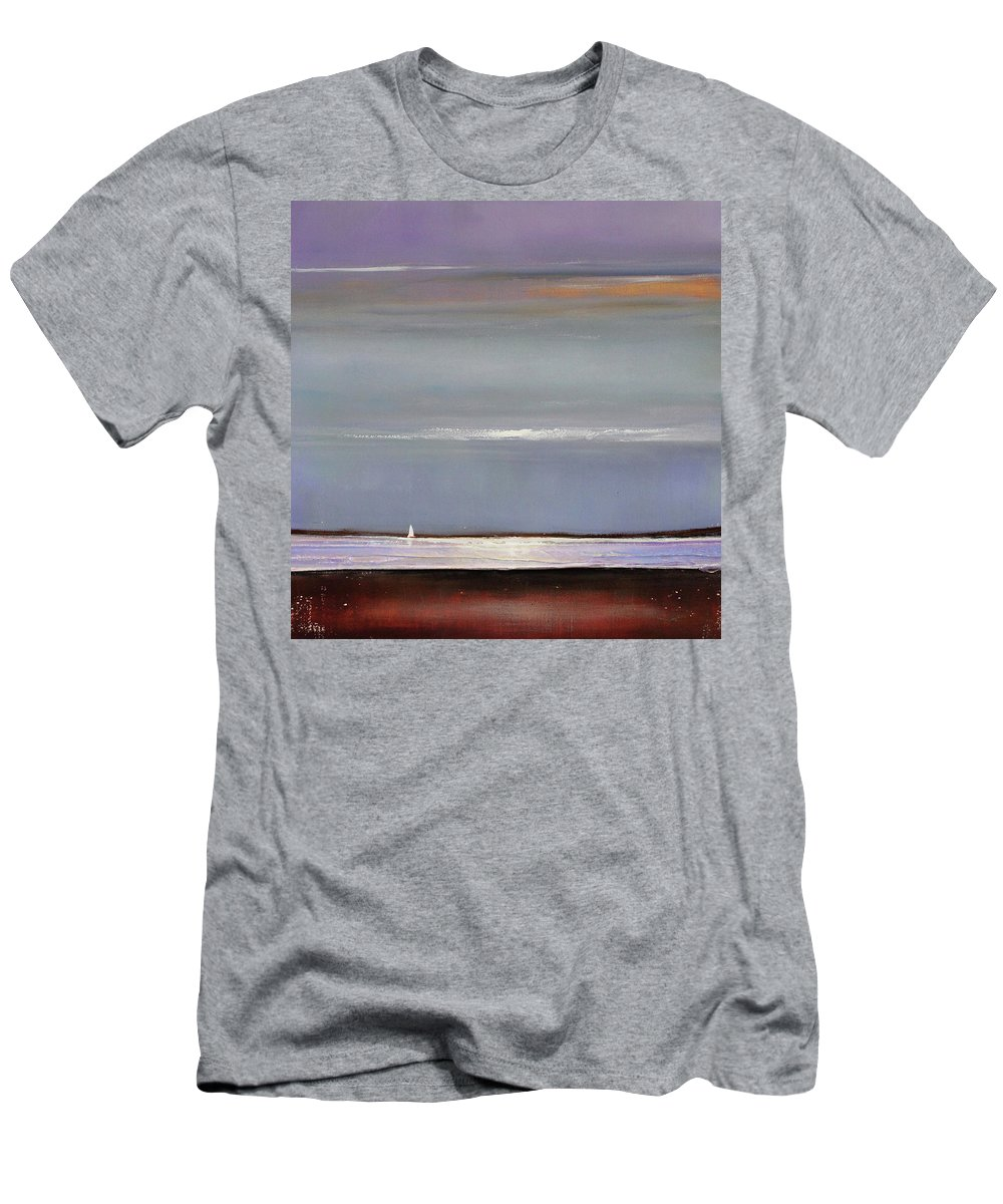 Lake Men's T-Shirt (Athletic Fit) featuring the painting Lake Shimmers by Toni Grote