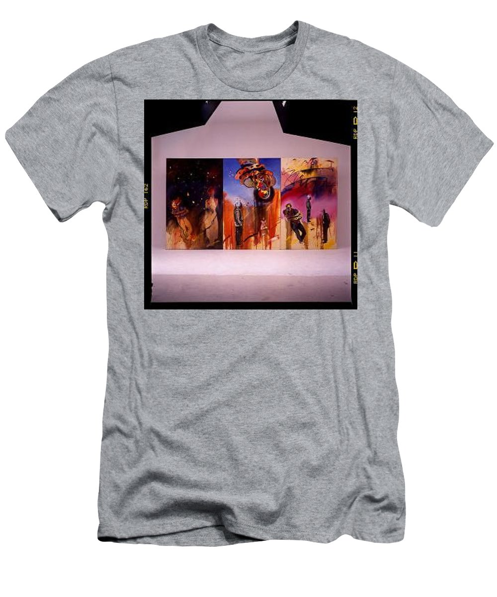 Canvas Men's T-Shirt (Athletic Fit) featuring the painting Love Hurts by Charles Stuart