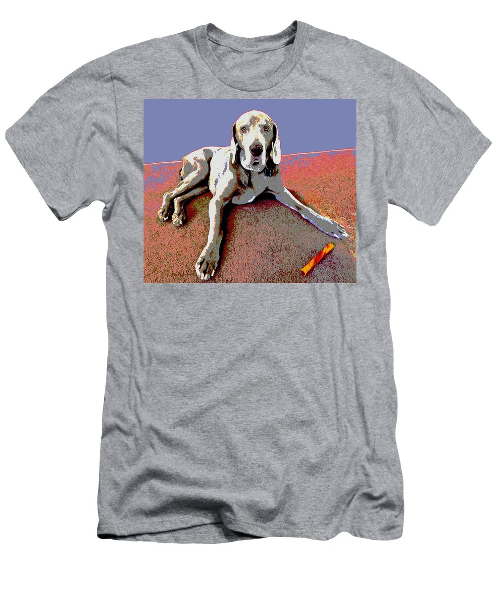 Dog Men's T-Shirt (Athletic Fit) featuring the photograph Martina by Julie Niemela
