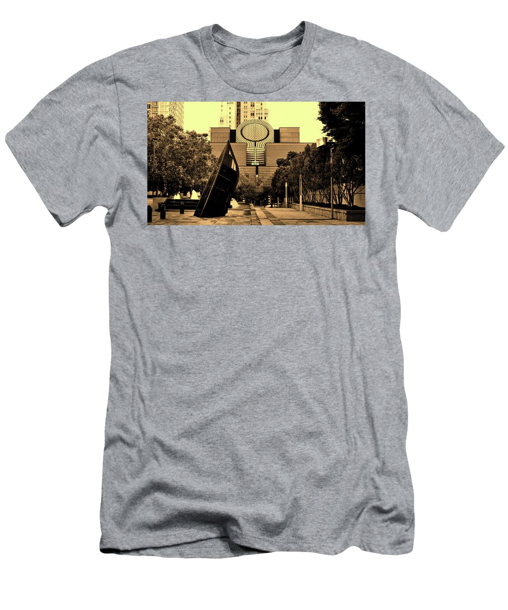 San Francisco Men's T-Shirt (Athletic Fit) featuring the photograph Museum Of Modern Art - San Francisco by Mountain Dreams