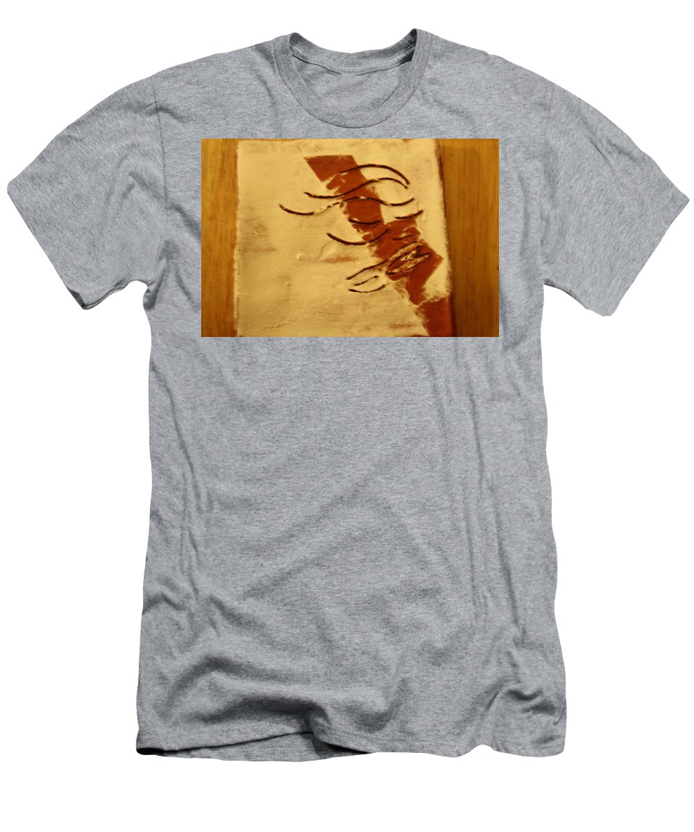 Jesus Men's T-Shirt (Athletic Fit) featuring the ceramic art Peace - Tile by Gloria Ssali