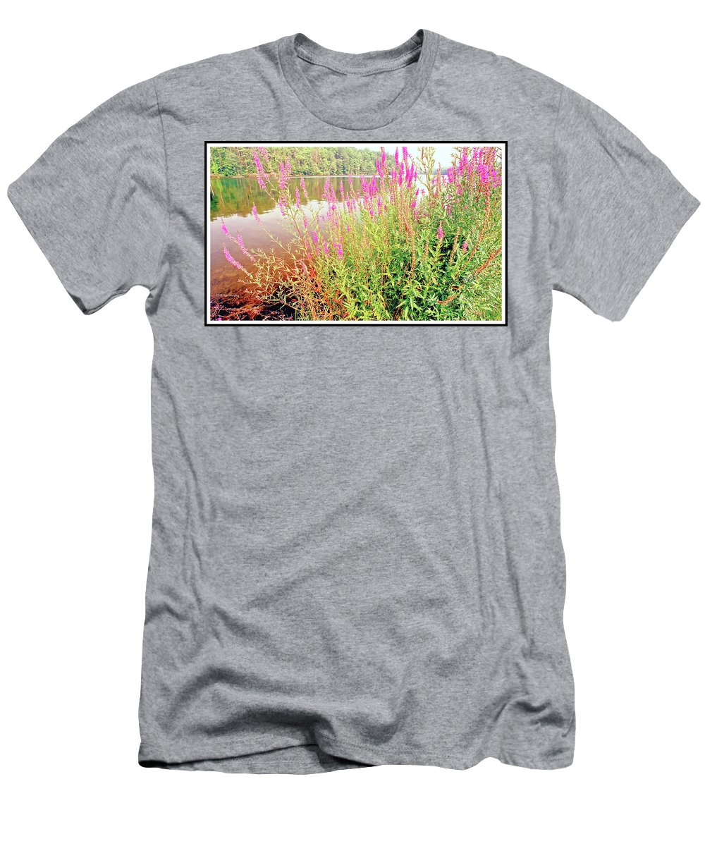 Pond Men's T-Shirt (Athletic Fit) featuring the photograph Pond In The Bershire Mountains, Massachusetts by A Gurmankin