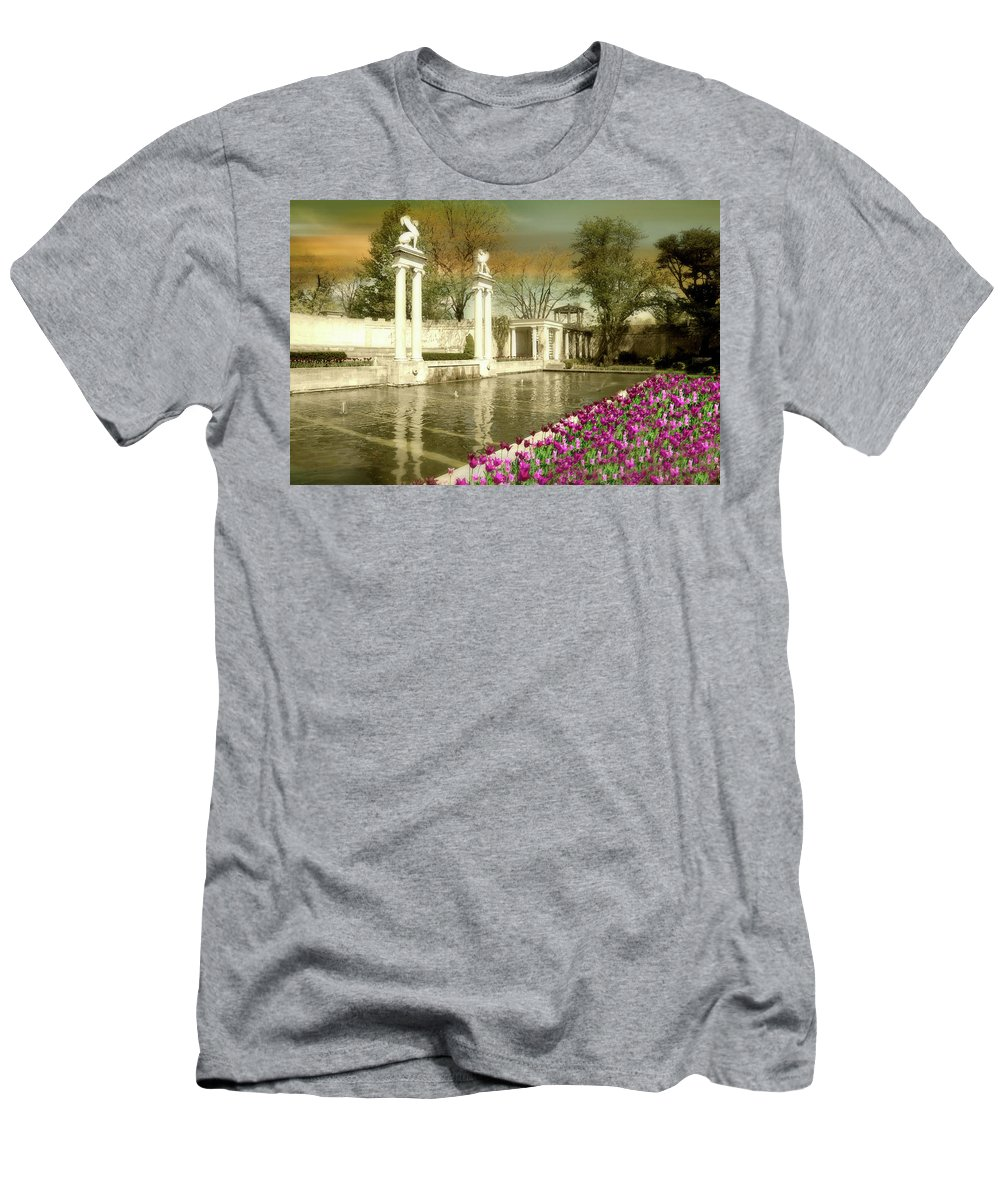 Pond Men's T-Shirt (Athletic Fit) featuring the photograph Samuel Untermyer by Diana Angstadt