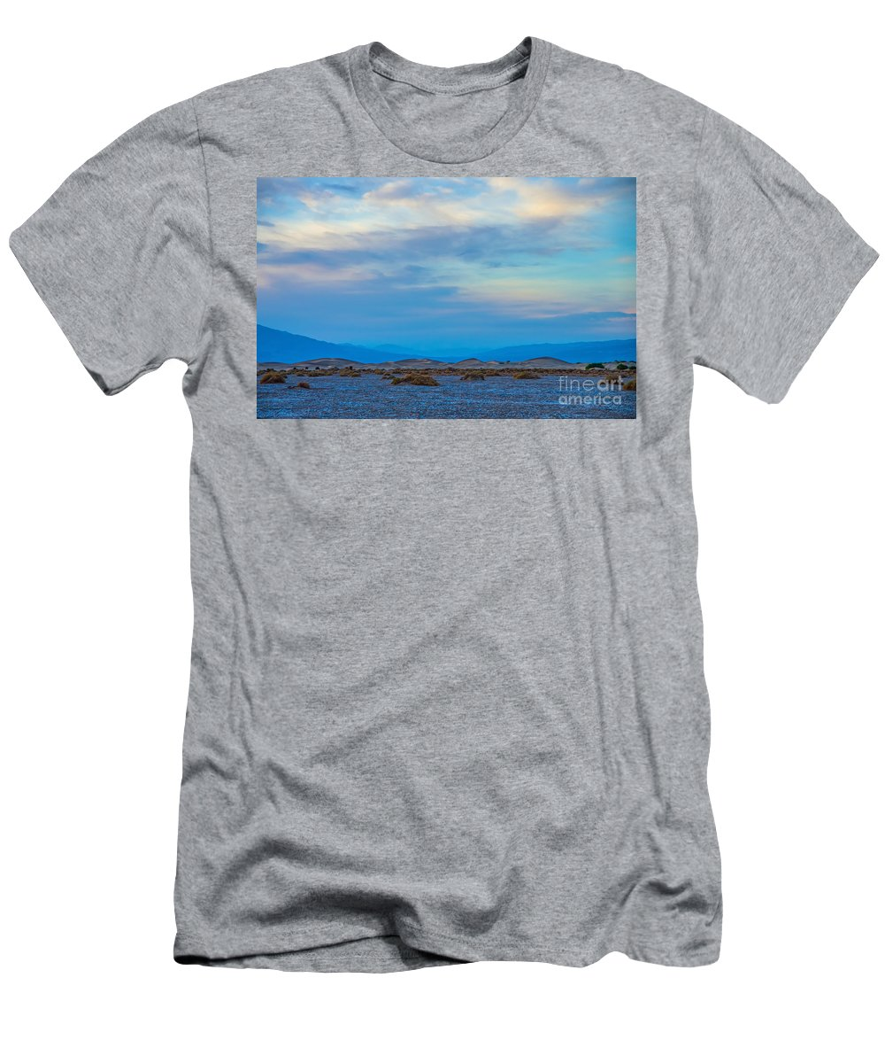 Sunset Men's T-Shirt (Athletic Fit) featuring the photograph The Blues by Stephen Whalen