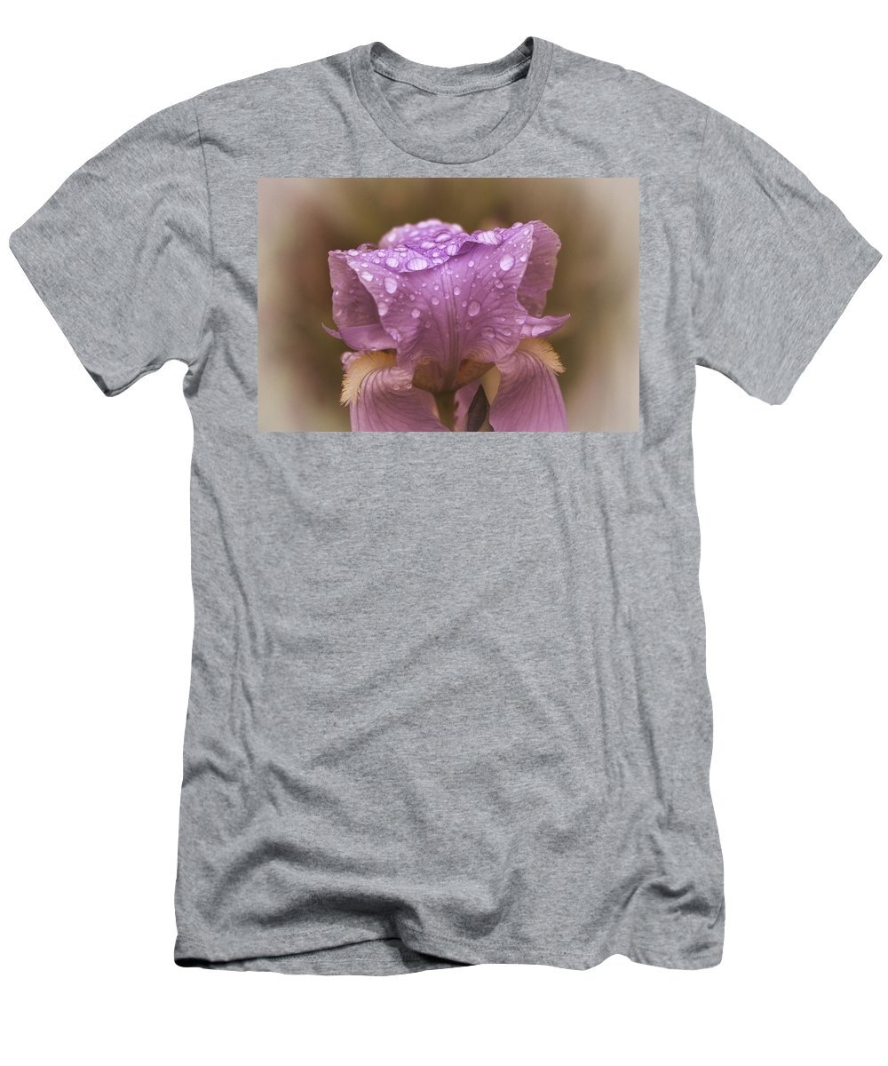 Vintage Flowers Men's T-Shirt (Athletic Fit) featuring the photograph Vintage Iris by Mel Hensley