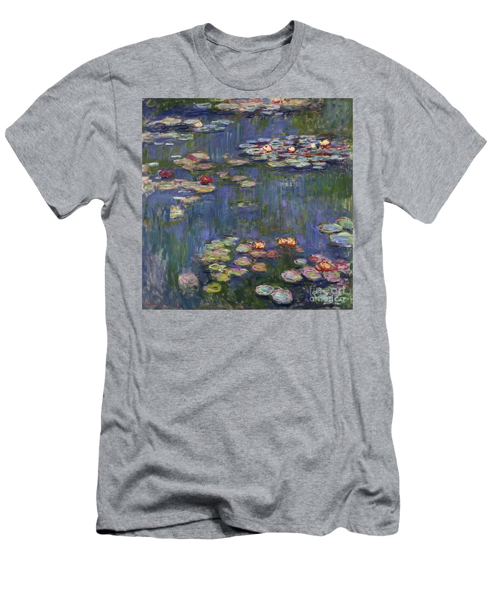 Monet T-Shirt featuring the painting Water Lilies, 1916 by Claude Monet