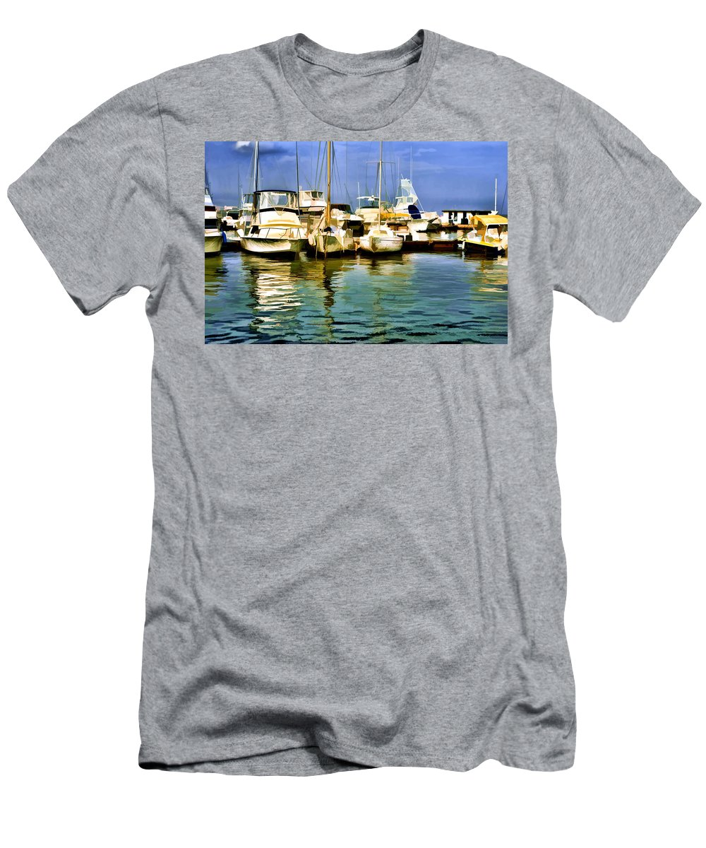 Yacht Club Men's T-Shirt (Athletic Fit) featuring the photograph Yacht Club by Galeria Trompiz