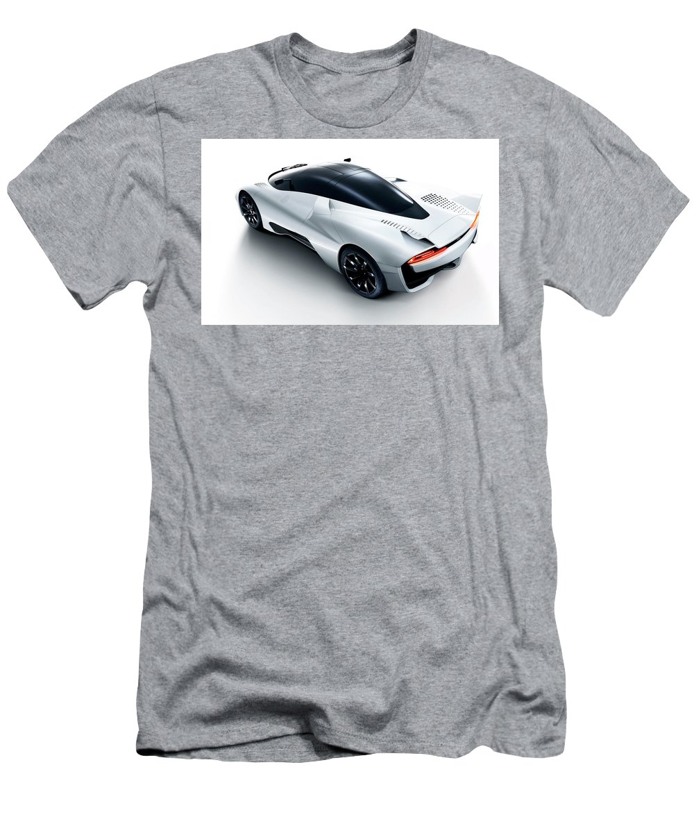 Ssc Tuatara 2 Wide Men's T-Shirt (Athletic Fit) featuring the digital art 2014 Ssc Tuatara 2 Wide by Rose Lynn