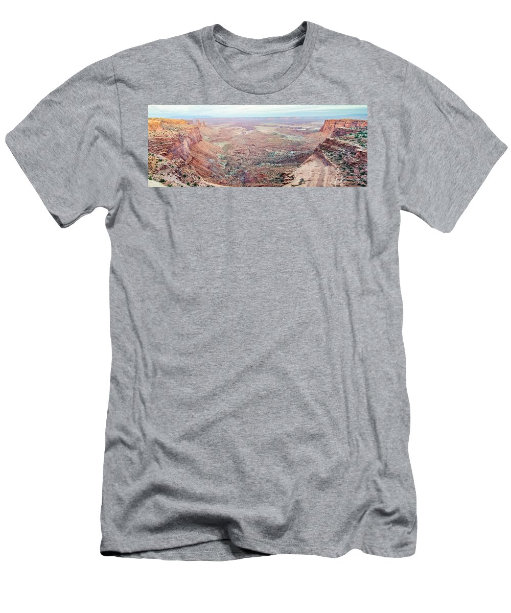 Park Men's T-Shirt (Athletic Fit) featuring the photograph Canyonlands National Park Utah by Alex Grichenko