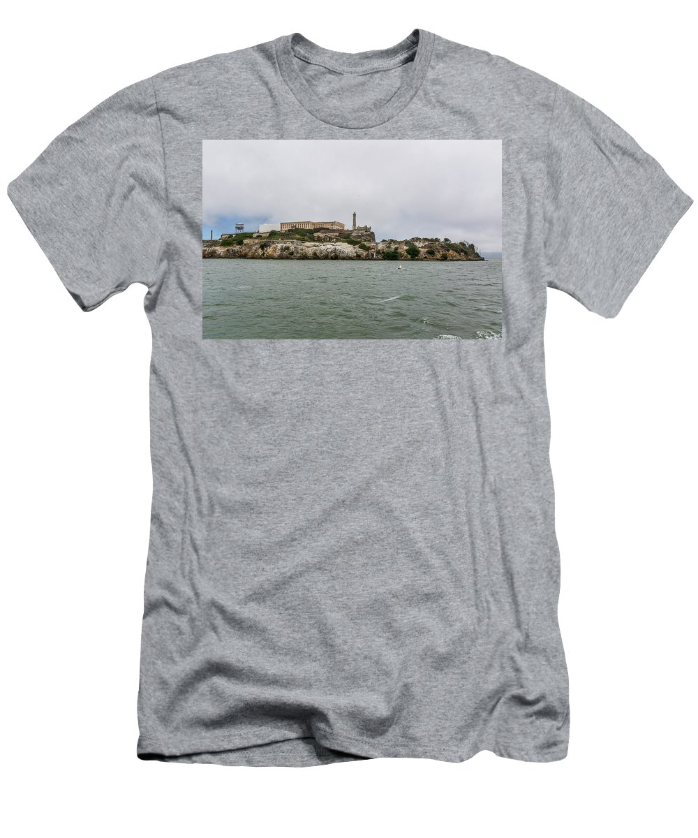 California Men's T-Shirt (Athletic Fit) featuring the photograph 2253- Alcatraz by David Lange