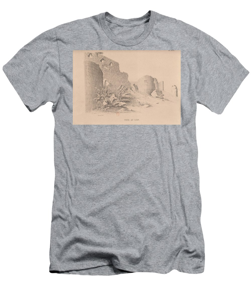 Ruins Of Ani � Capital Of Armenia 26 Men's T-Shirt (Athletic Fit) featuring the painting Capital Of Armenia by MotionAge Designs