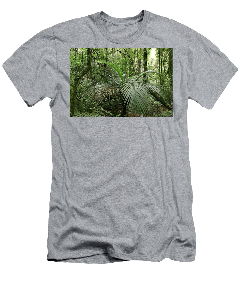 Rain Forest Men's T-Shirt (Athletic Fit) featuring the photograph Jungle 5 by Les Cunliffe