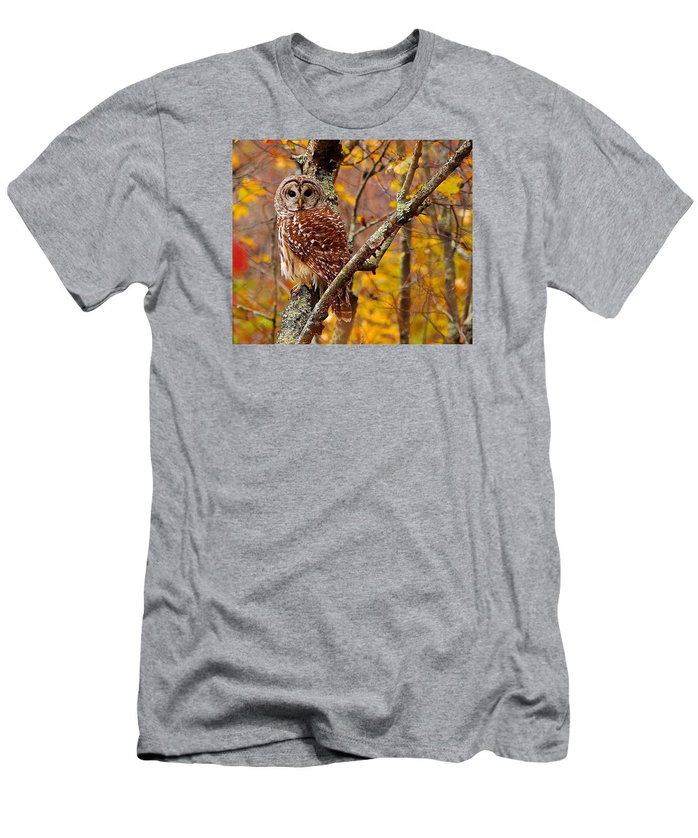 Owl Wildlife Men's T-Shirt (Athletic Fit) featuring the photograph owl by Christine Russell