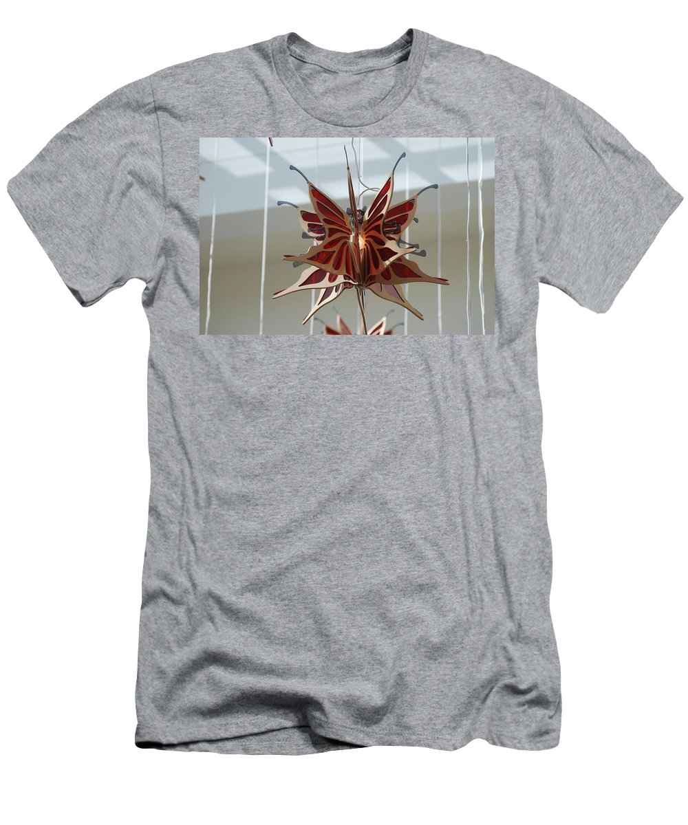 Architecture Men's T-Shirt (Athletic Fit) featuring the photograph Hanging Butterfly by Rob Hans