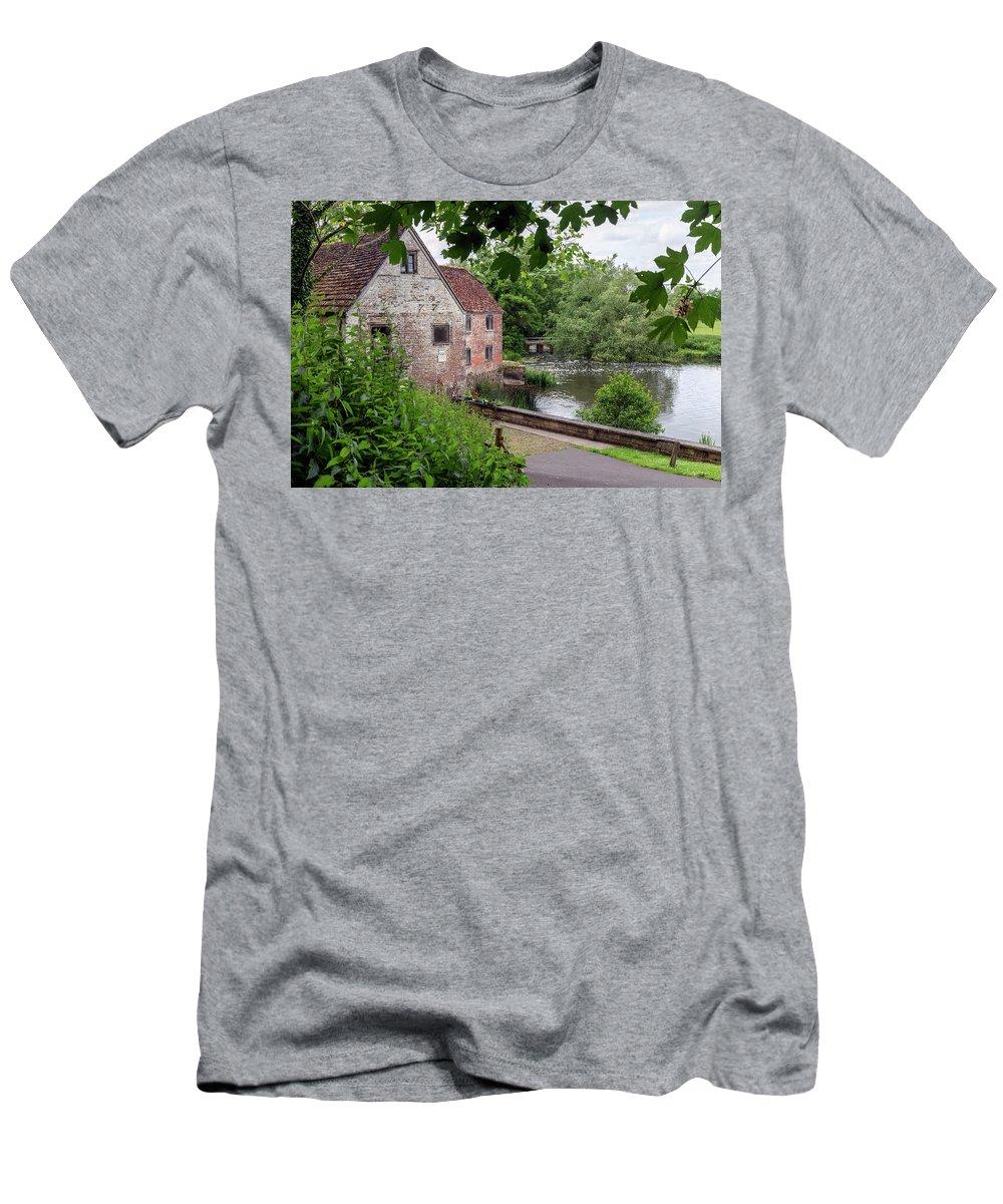 Sturminster Newton Mill Men's T-Shirt (Athletic Fit) featuring the photograph Sturminster Newton Mill - England by Joana Kruse