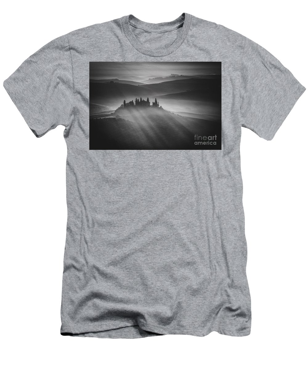 Tuscany Men's T-Shirt (Athletic Fit) featuring the photograph Tuscany by Pawel Klarecki
