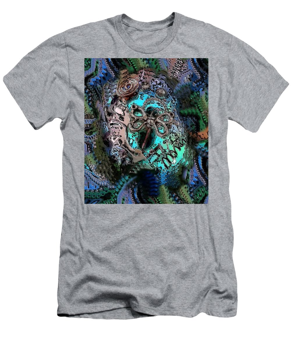 Digital Art Men's T-Shirt (Athletic Fit) featuring the digital art Abstract Orgone by Belinda Cox