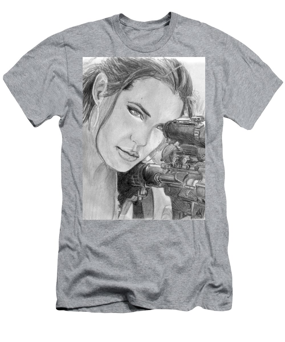 Mr. And Mrs. Smith Men's T-Shirt (Athletic Fit) featuring the drawing 32 by Kristopher VonKaufman
