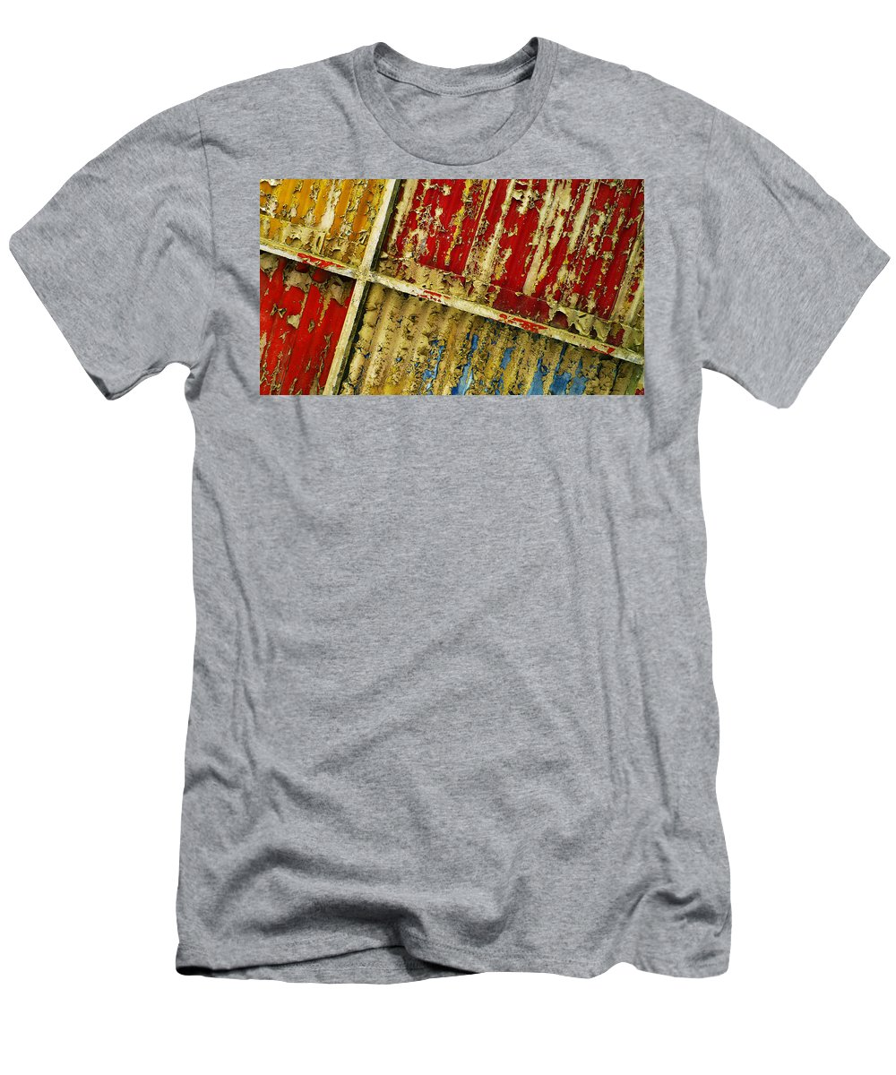 Abstract Men's T-Shirt (Athletic Fit) featuring the photograph 377 At 41 Series 6 by Skip Hunt