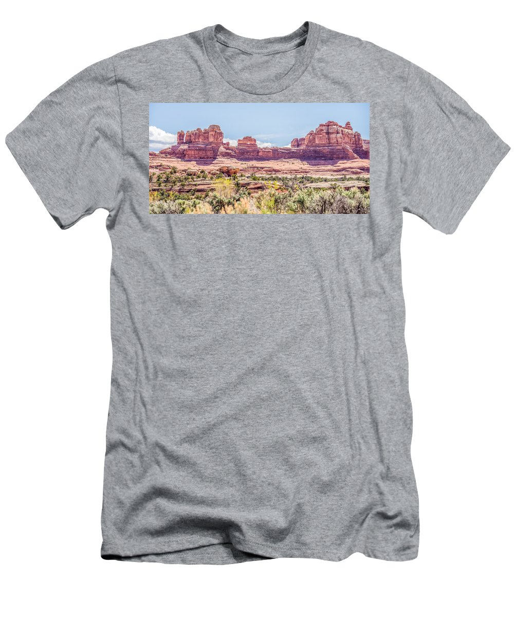 Canyonlands Men's T-Shirt (Athletic Fit) featuring the photograph Views Of Canyonlands National Park by Alex Grichenko