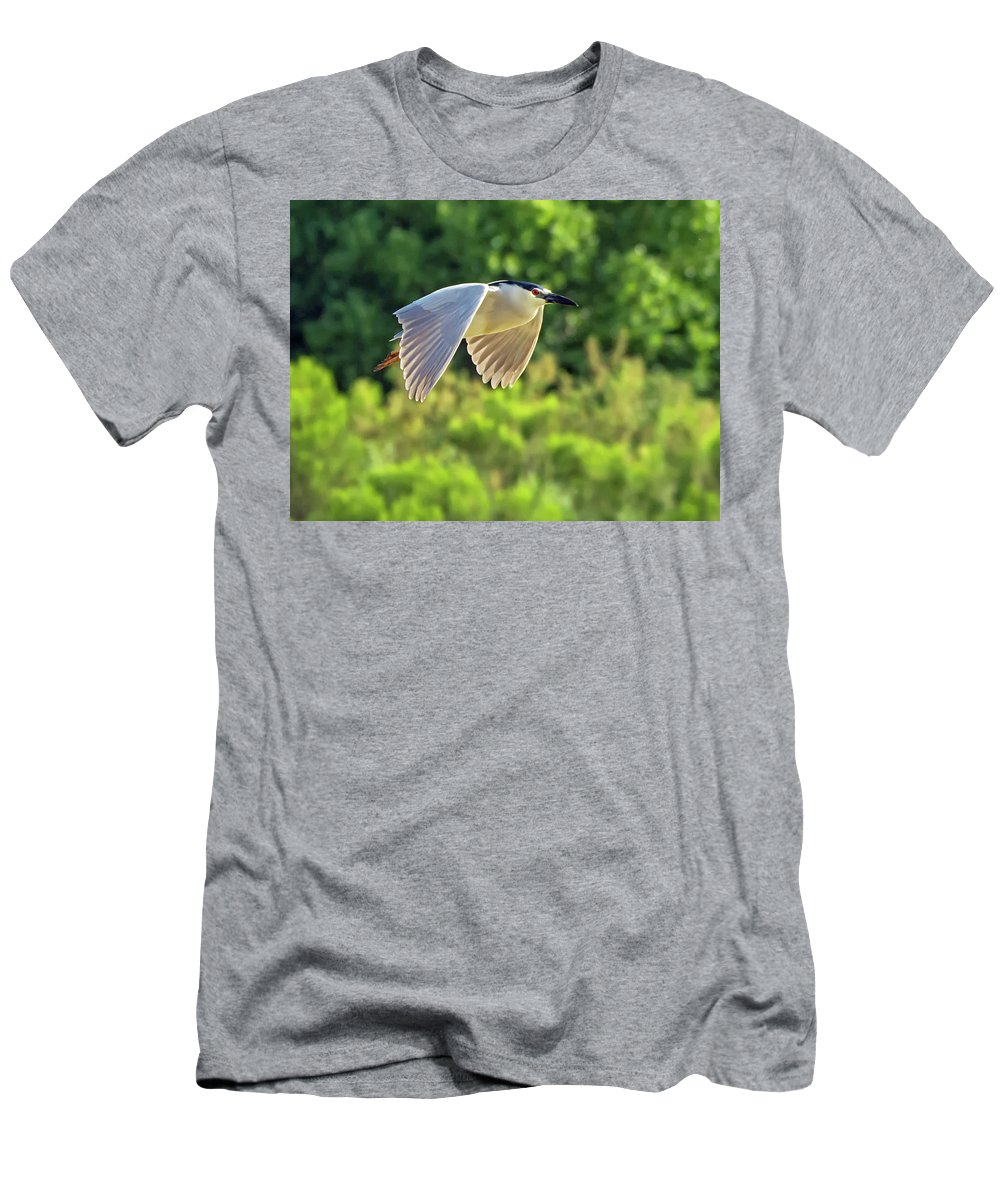 Black-crowned_night Heron Men's T-Shirt (Athletic Fit) featuring the photograph Black-crowned Night Heron by Tam Ryan