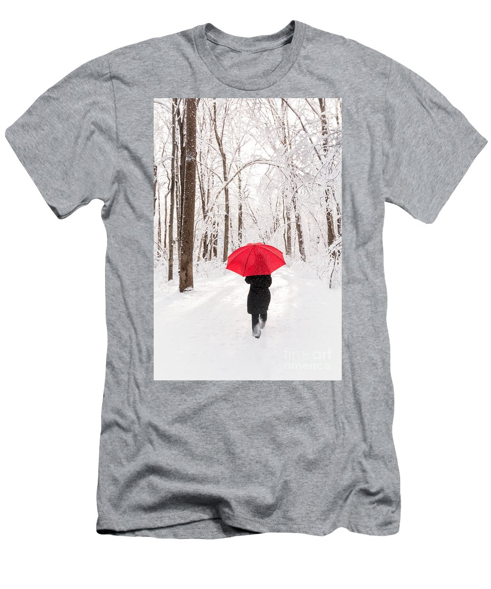 Winter Men's T-Shirt (Athletic Fit) featuring the photograph Winter Walk by Michael Shake