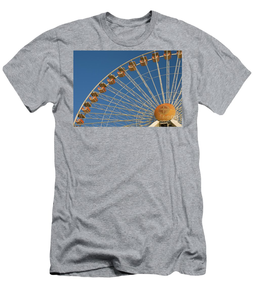 Fun Men's T-Shirt (Athletic Fit) featuring the photograph Ferris Wheel by Anthony Totah