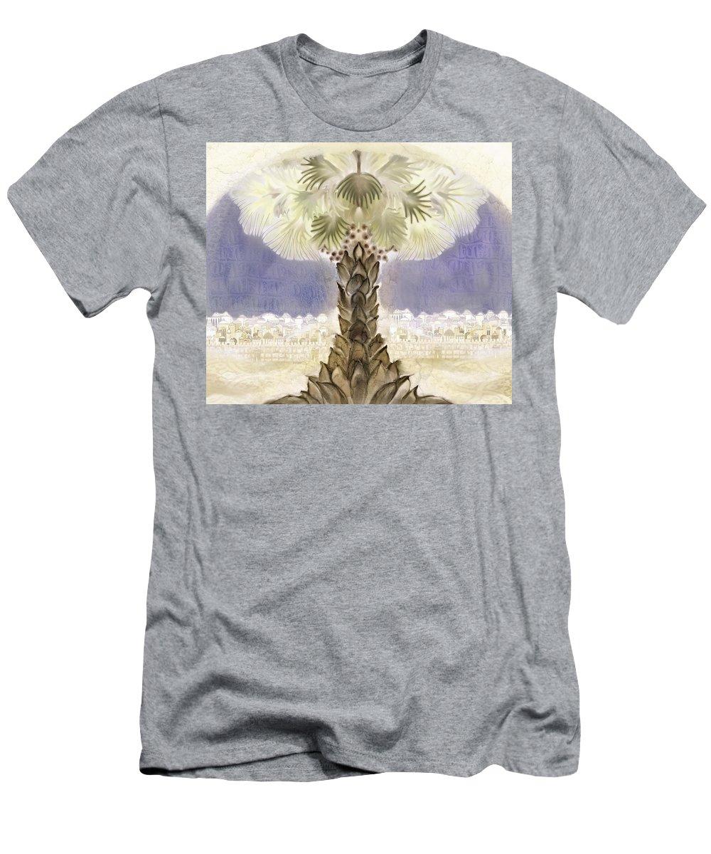 Jerusalem Men's T-Shirt (Athletic Fit) featuring the digital art Jerusalem- Tryptich Part 2 by Sandrine Kespi