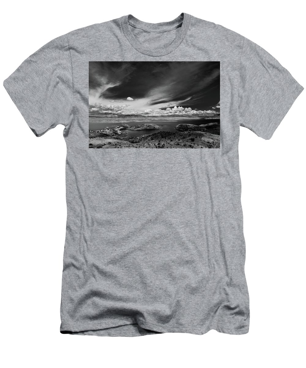 Landscape Men's T-Shirt (Athletic Fit) featuring the photograph Untitled by Cyrus Javid