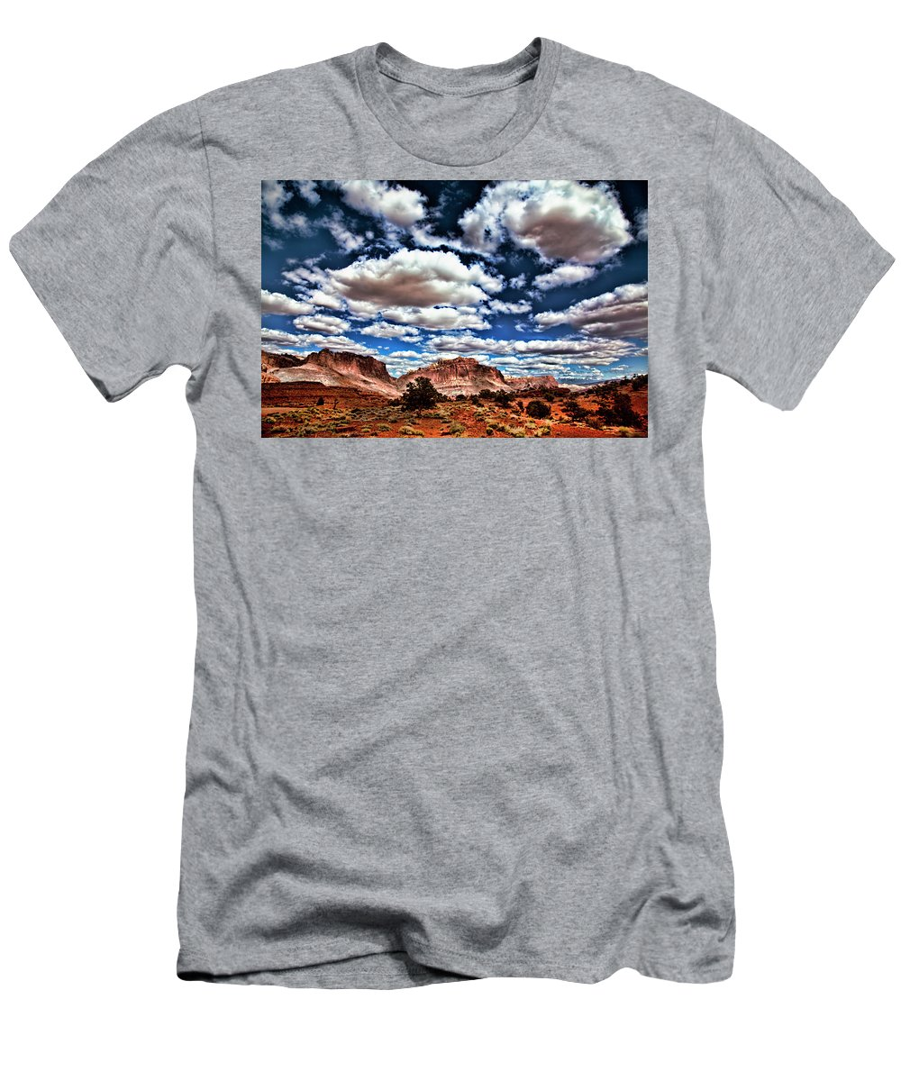 Capitol Reef National Park Men's T-Shirt (Athletic Fit) featuring the photograph Capitol Reef National Park by Mark Smith