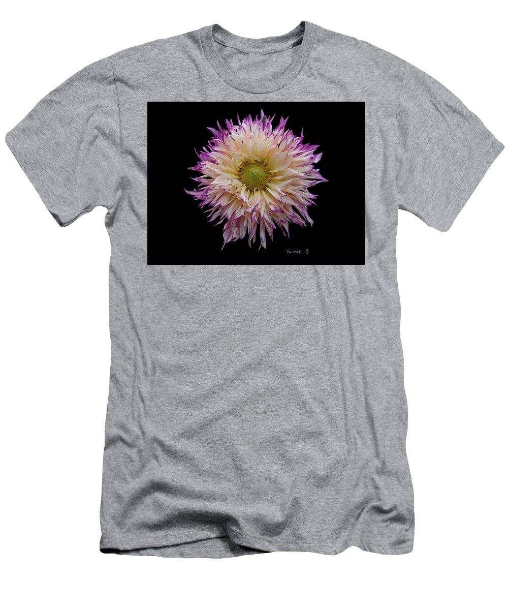 Dahlia Men's T-Shirt (Athletic Fit) featuring the photograph Dahlia by Diane Giurco