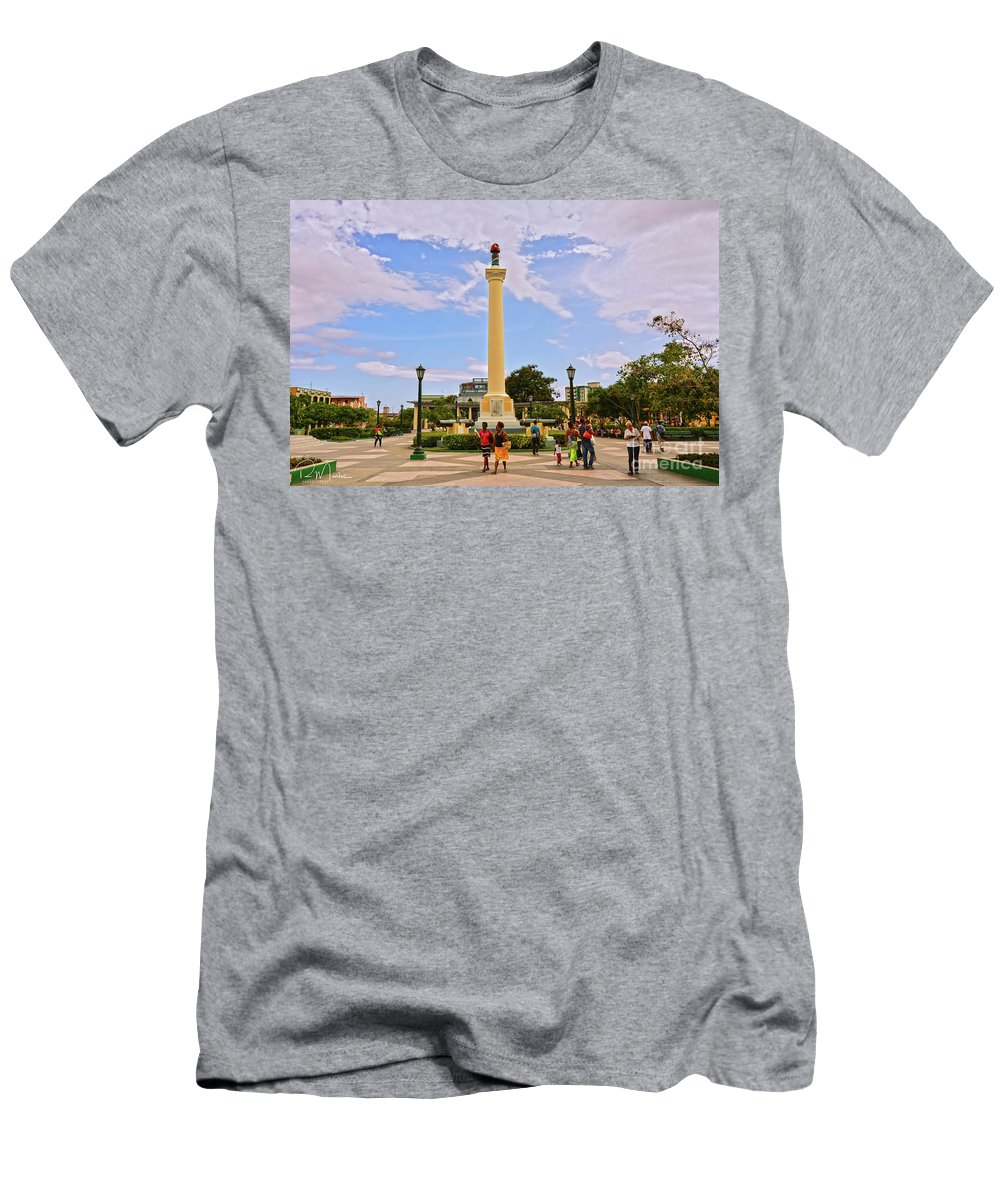Men's T-Shirt (Athletic Fit) featuring the pyrography Traversing Santiago De Cuba, Cuba. by Roberto Montes