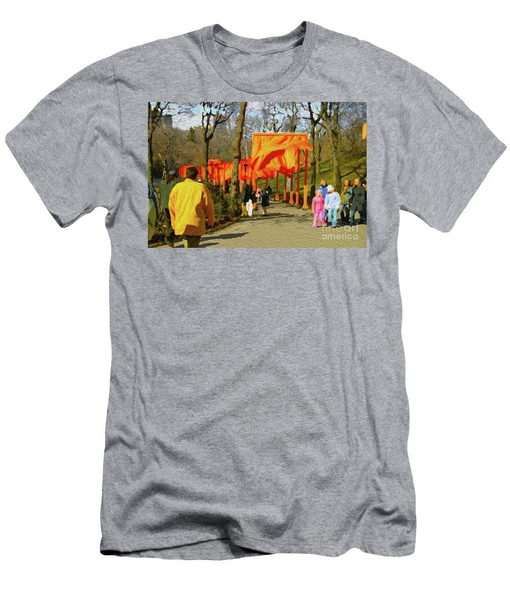 Walter Paul Bebirian Men's T-Shirt (Athletic Fit) featuring the digital art 9-10-3057k by Walter Paul Bebirian