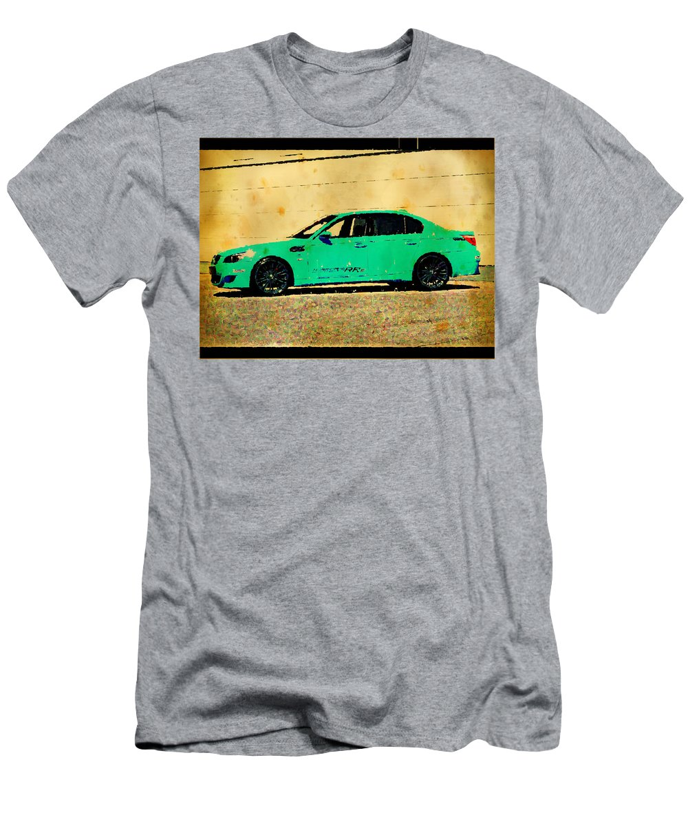 Bmw Men's T-Shirt (Athletic Fit) featuring the digital art BMW by Lora Battle