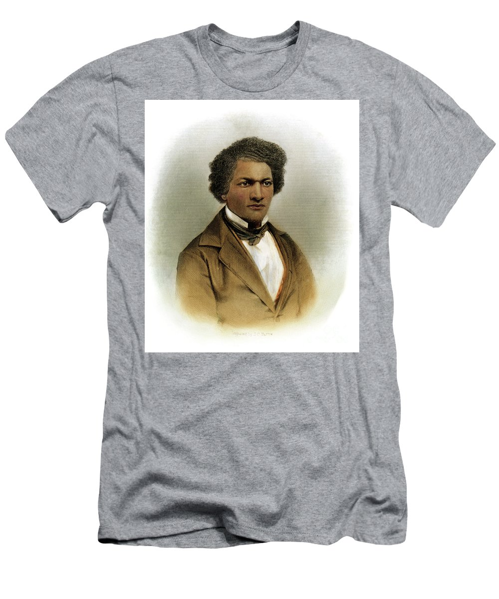 1854 Men's T-Shirt (Athletic Fit) featuring the drawing Frederick Douglass by Granger