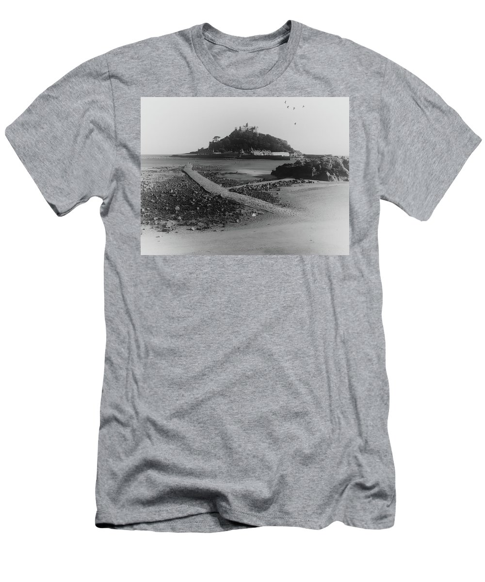 Sea Men's T-Shirt (Athletic Fit) featuring the photograph St Michaels Mount by Martin Newman