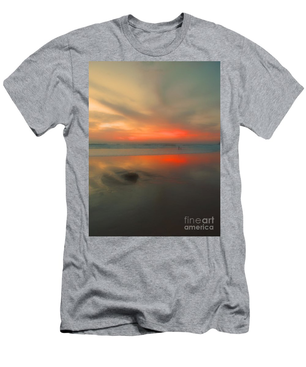 Beach Men's T-Shirt (Athletic Fit) featuring the photograph A Beautiful Blur by Tara Turner