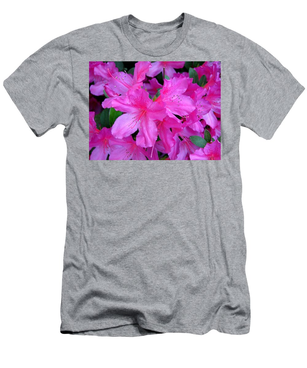 Azalea Men's T-Shirt (Athletic Fit) featuring the photograph A Burst Of Pink by J M Farris Photography