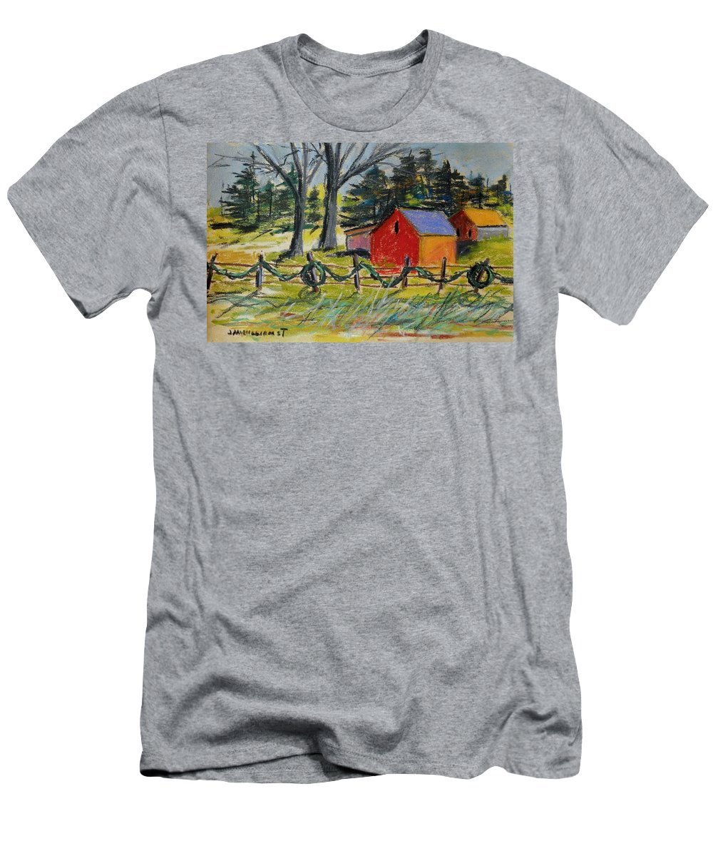 Christmas Men's T-Shirt (Athletic Fit) featuring the painting A Change Of Season by John Williams