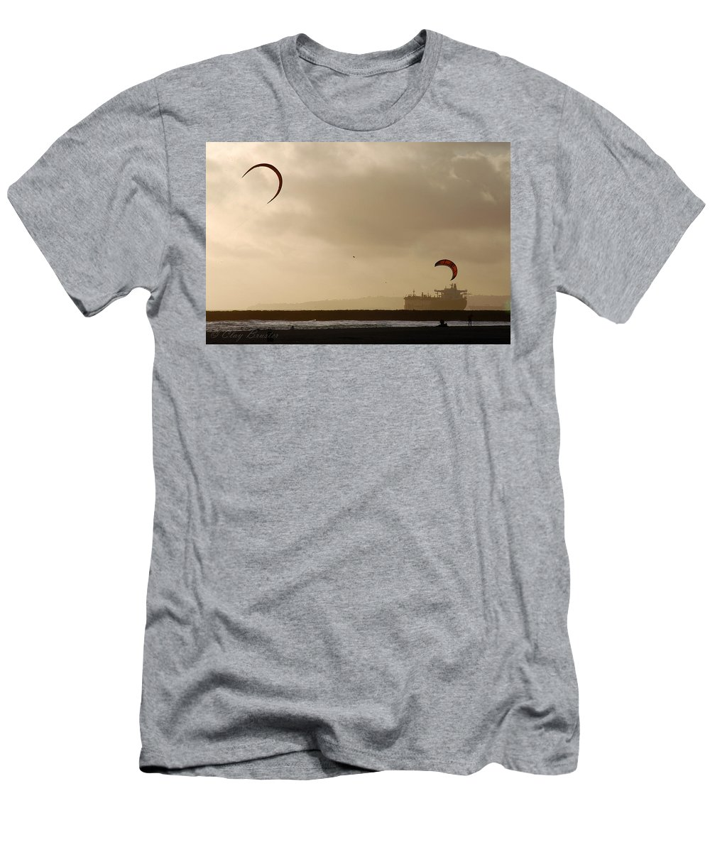 Clay Men's T-Shirt (Athletic Fit) featuring the photograph A Day At The Beach by Clayton Bruster