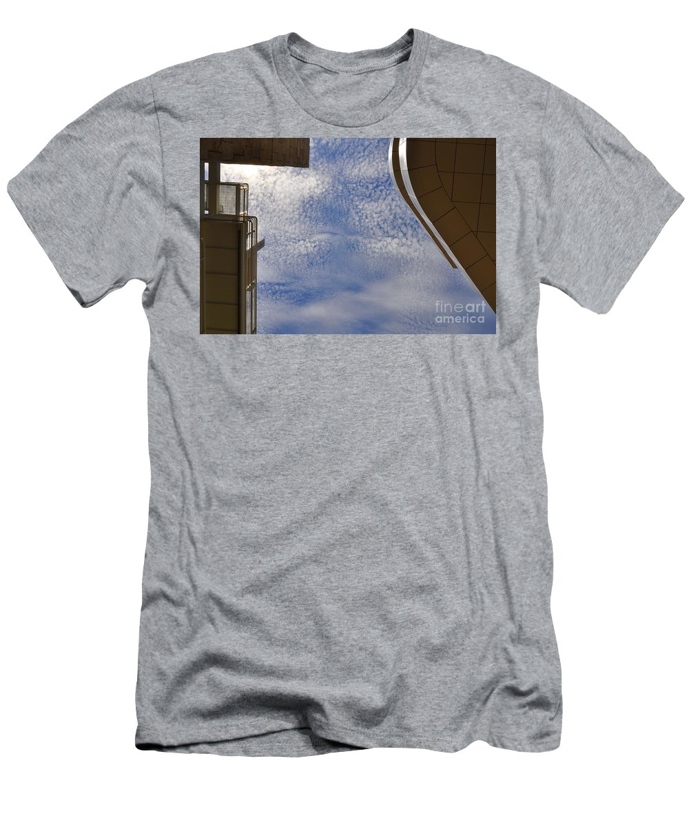 Clay Men's T-Shirt (Athletic Fit) featuring the photograph A Day At The Getty by Clayton Bruster