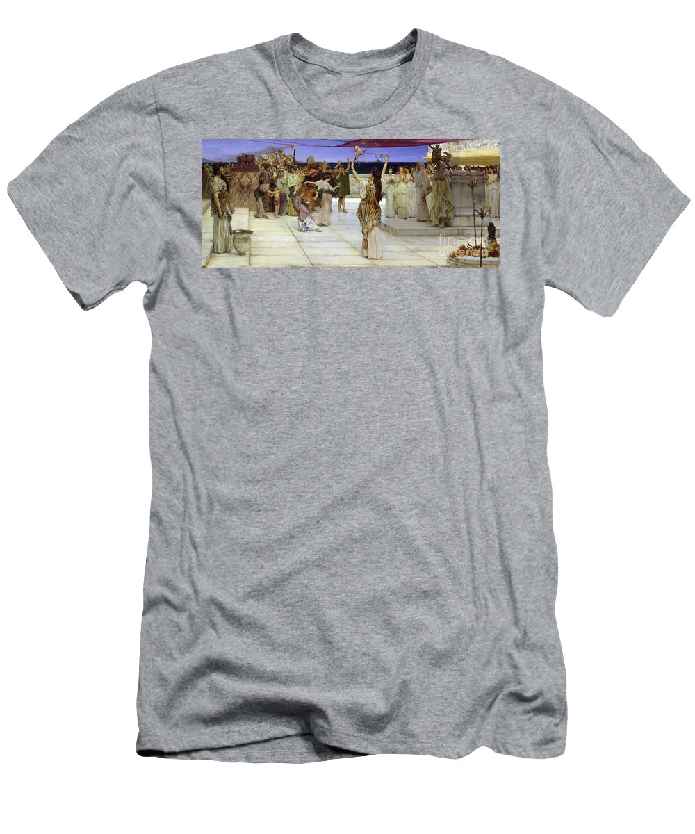 Dedication Men's T-Shirt (Athletic Fit) featuring the painting A Dedication To Bacchus by Sir Lawrence Alma Tadema