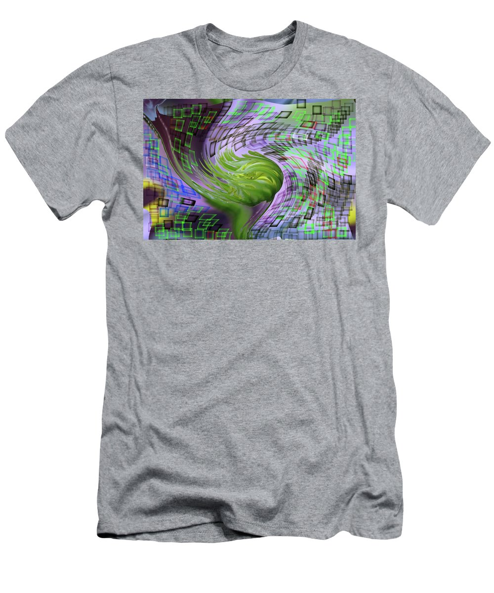 Abstract Men's T-Shirt (Athletic Fit) featuring the photograph A Flower In The Sound Of Wind by Jeff Swan