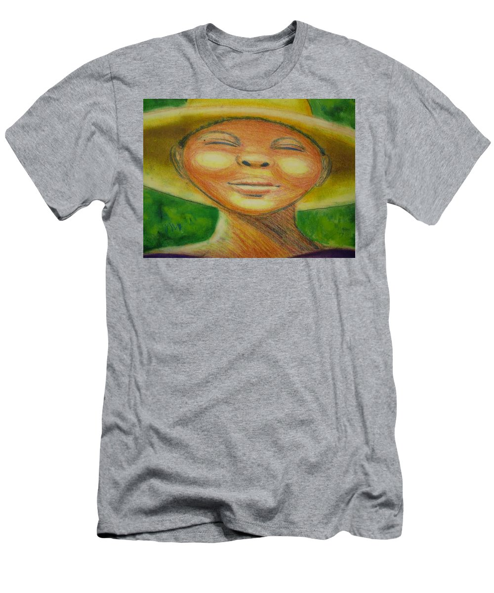 Drawing Men's T-Shirt (Athletic Fit) featuring the drawing A Hot Summer Day by Jan Gilmore
