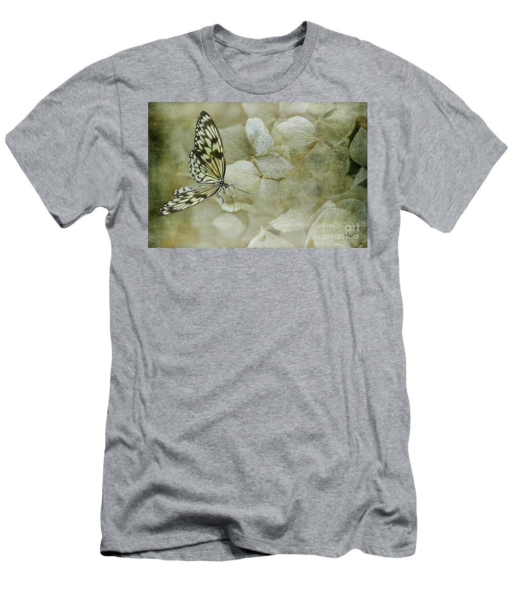 Butterfly Men's T-Shirt (Athletic Fit) featuring the photograph A Lighter Touch by Lois Bryan