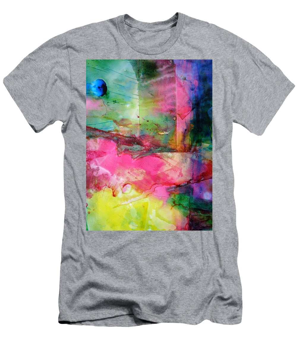 World Men's T-Shirt (Athletic Fit) featuring the painting A New World Dawning by Janice Nabors Raiteri