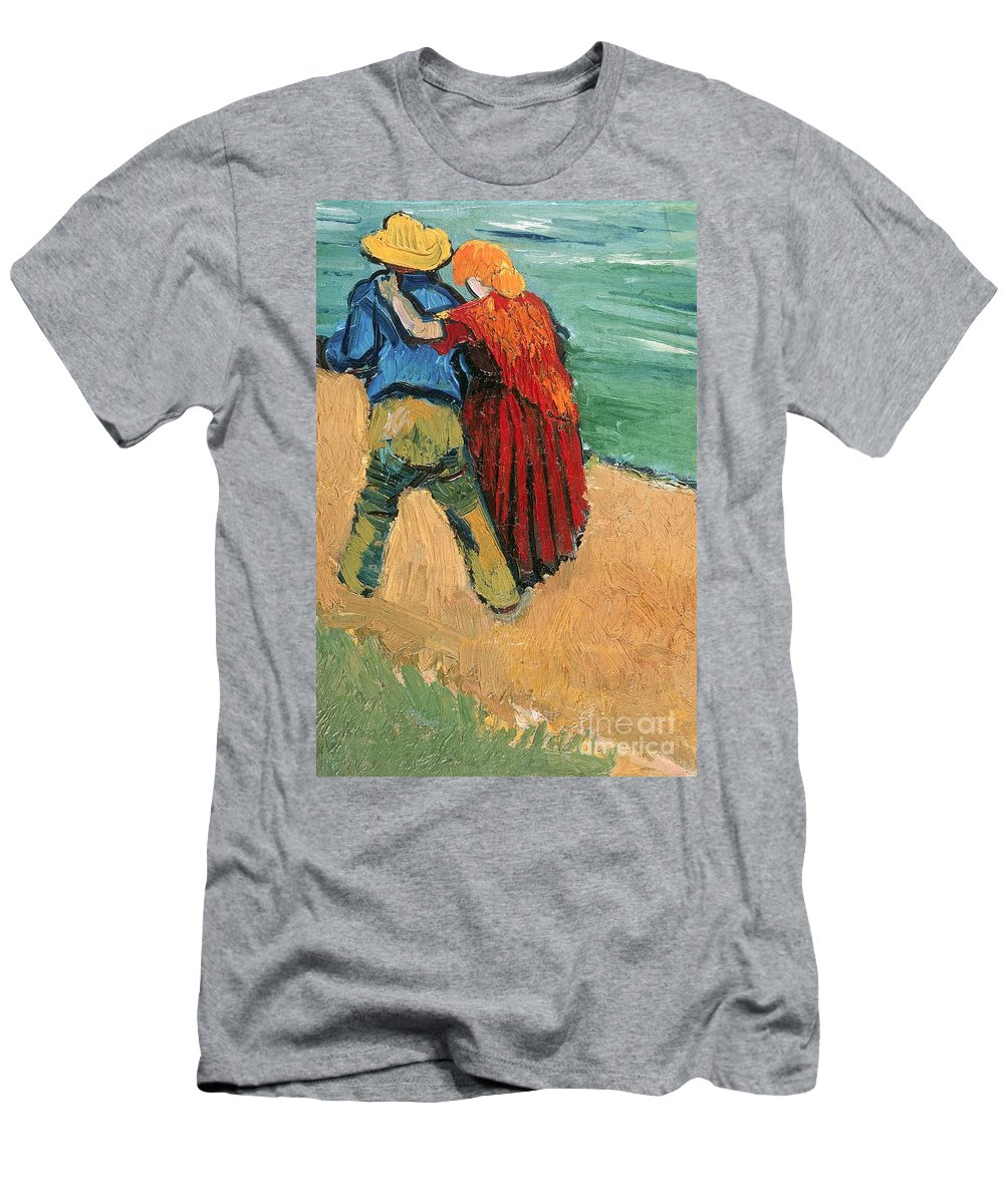 Pair Men's T-Shirt (Athletic Fit) featuring the painting A Pair Of Lovers by Vincent Van Gogh