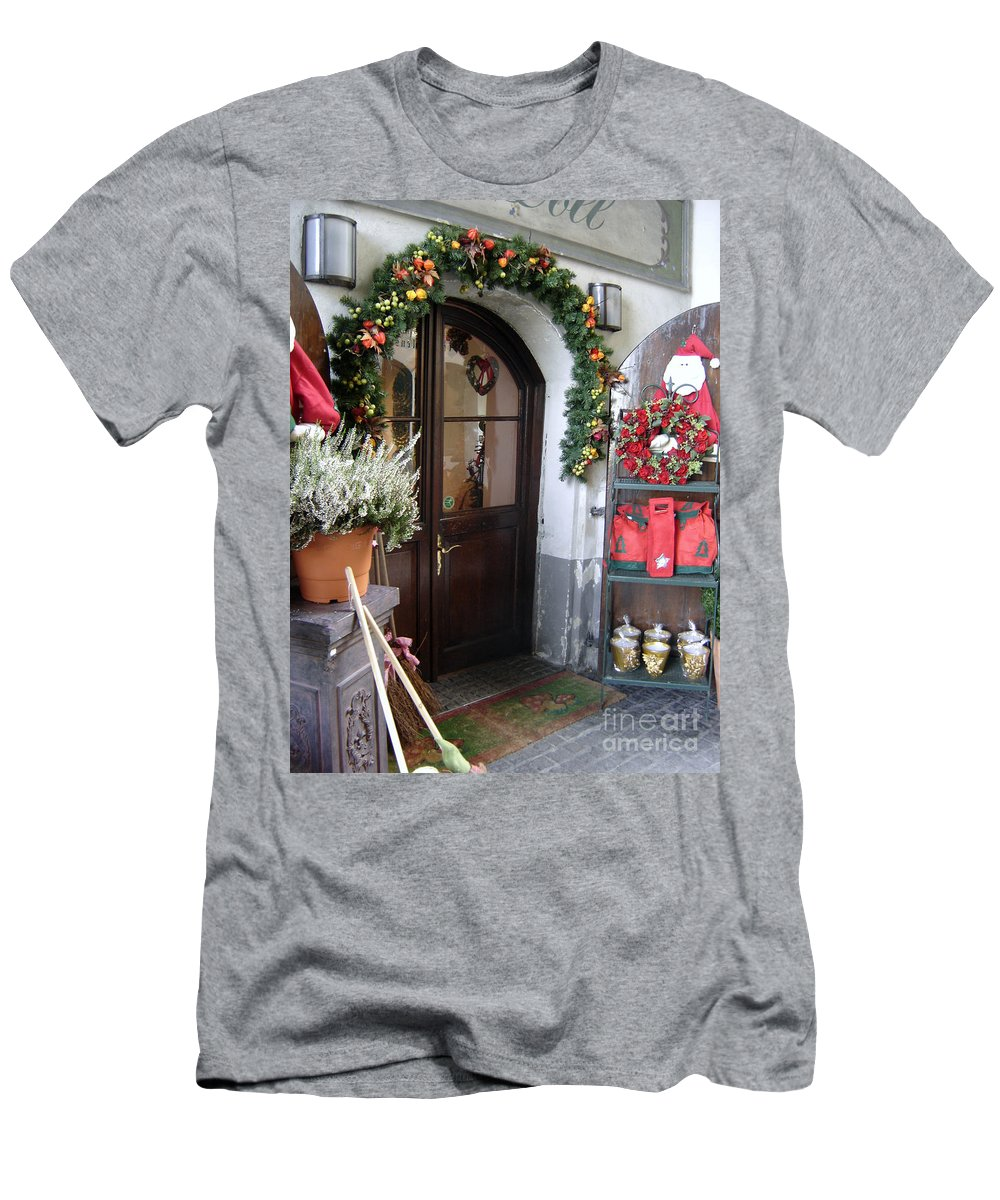 Santa Men's T-Shirt (Athletic Fit) featuring the photograph A Salzburg Christmas by Mary Rogers